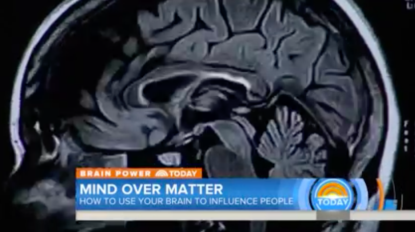 Click above on the Today Show image to watch the Maria Shriver interview with neuroscientist Tali Sharot.